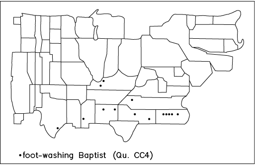 foot-washing Baptist