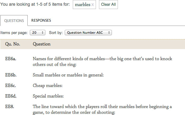 Questions containing marbles